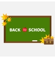 green board with chalk on wall brown vector image