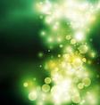 green bokeh light background vector image vector image