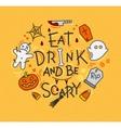 Halloween poster flat mustard vector image vector image
