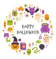 happy halloween card autumn halloween pumpkin vector image