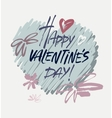 Happy Valentines Day Vintage Card With vector image vector image