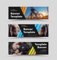 horizontal black web banner templates vector image vector image