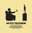 Human Watching Television Symbol vector image