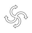 infographic arrows symbol vector image vector image