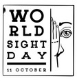 international sight day concept background simple vector image