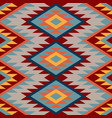 kilim ethnic geometric ornament pattern of vector image