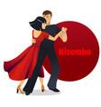 kizomba dancing couple in cartoon style vector image vector image
