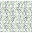 leaves seamless pattern nature background vector image vector image