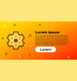 line revolver cylinder icon isolated on yellow vector image vector image