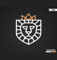 lion shield logo vector image