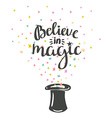 Magic Hat Background with stars and inspiring vector image