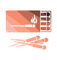 match box icon vector image vector image