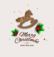 minimalist style christmas greeting card with vector image vector image