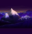 mountain everest evening panoramic with sunset vector image