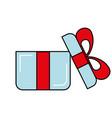 online shopping open gift box concept vector image vector image