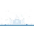 Outline Taj Mahal with Tree vector image vector image