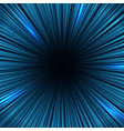 radial blue light speed lines fast motion effect vector image vector image