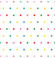 rainbow polka dots on white background vector image vector image
