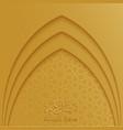 ramadan kareem greeting card template with mosque vector image vector image