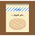 Recipe Book Apple Pie vector image vector image