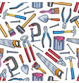 repair work tool seamless pattern background vector image vector image