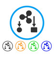 ripple cashflow rounded icon vector image vector image