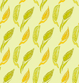 Scroll banner with ears of wheat Hand drawn vector image