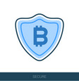 secured digital internet cryptocurrency bitcoin vector image vector image