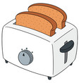 set of bread and toaster vector image