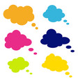set of comic style speech bubbles clouds vector image