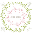 set of two floral wreathes with leaves vector image vector image