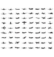 silhouettes aircrafts
