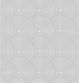 Slim gray striped overlapped circles in row vector image vector image