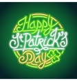St Patricks Day Glowing Neon Sign vector image vector image