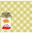 Thank you greeting card with hearts plugged into vector image