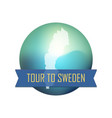tour to sweden vector image vector image