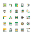 User Interface and Web Colored Icons 12 vector image vector image