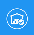 warehouse icon with checkmark vector image vector image