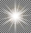 White rays light effect isolated on transparent vector image vector image