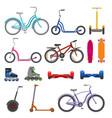 alternative city wheel transport and urban circle vector image
