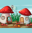 ants at the mushroom house vector image vector image