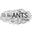 ants how to get rid of ant problems text word vector image