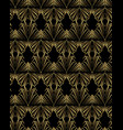 art deco template golden-black seamless pattern vector image