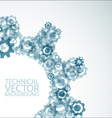 background made from cogwheels vector image vector image