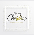 black inscription christmas and magic light vector image vector image