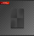 blank paper frame on wall vector image vector image