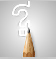 brown wooden pencil vector image vector image