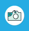 camera flat icon sign symbol vector image vector image