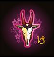 capricorn zodiac sign horoscope vector image vector image