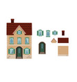 cartoon house shutter house l with separate vector image